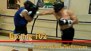 """""""BOXING 102, Intermediate Techniques boxing video, DVD lessons, Good for MMA too"""
