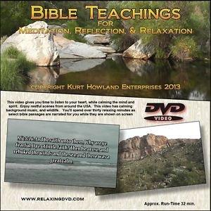Bible Teachings for Meditation Relaxation Video, Learn while destressing, DVD