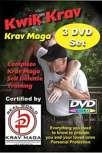 """KRAV MAGA 8 Disk Set"" Kwik Krav Set-Punches-Condition-Weapons-Kicks-Workout DVD"