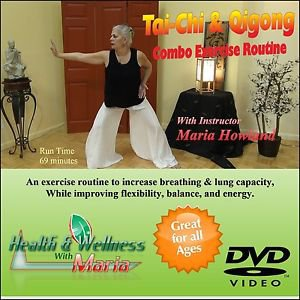 Tai-Chi & Qigong Combo Exercise DVD, Increase Breathing, Flexibility, & Stamina