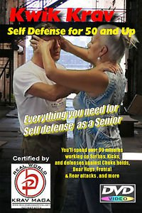 """""""SELF DEFENSE for people 50 and up"""" Krav Maga Training Video, DVD."""