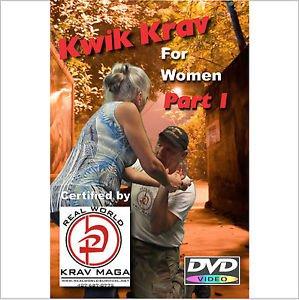 """""""KRAV MAGA for Women""""  2 Disk Set, Plus Krav """"WORKOUT DVD"""", Self Defense Video"""