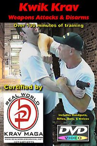 """Weapons Attacks & Disarms"" Real World Techniques, Krav Maga Self Defense DVD"