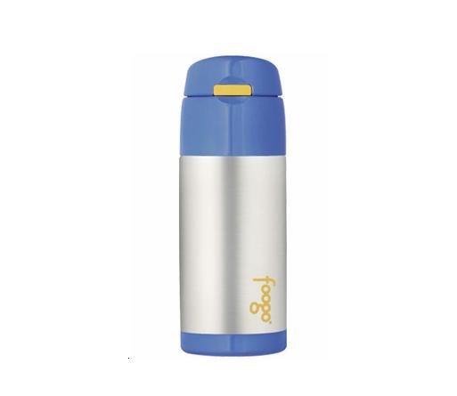 Foogo Stainless Steel Straw Bottle - Blue