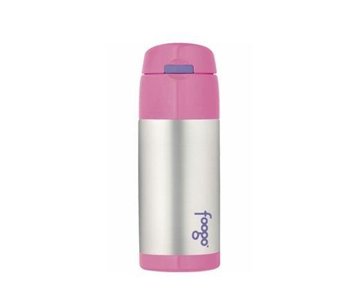Foogo Stainless Steel Straw Bottle - Pink