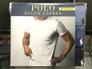 Polo Ralph Lauren Classic Fit Three 3 Pack Cotton Crew Neck Tee Shirt BLUE