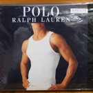 Polo Ralph Lauren 3 Three Pack Classic Fit Cotton Ribbed Tanks Top BLACK RedLogo