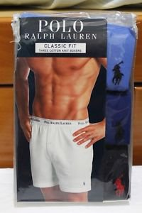 Polo Ralph Lauren Classic Fit 3 Three Pack Cotton Knit Boxer Sky Royal Navy Blue