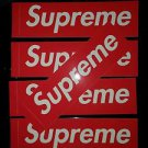 Lot of 5 Supreme Classic Red Box Logo Vinyl Gloss Sticker CDG 100% AUTHENTIC!