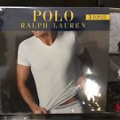 Polo Ralph Lauren Slim Fit Three 3 Pack Cotton V Neck T Tee Shirt Grey Black Mix