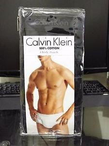 Calvin Klein 4 Pack Briefs Cotton Underwear Classic Fit BLACK MSRP $39.50