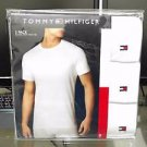Tommy Hilfiger 3-Pack Three White Classic Crew Neck Cotton Tee T Shirt MSRP$39.5