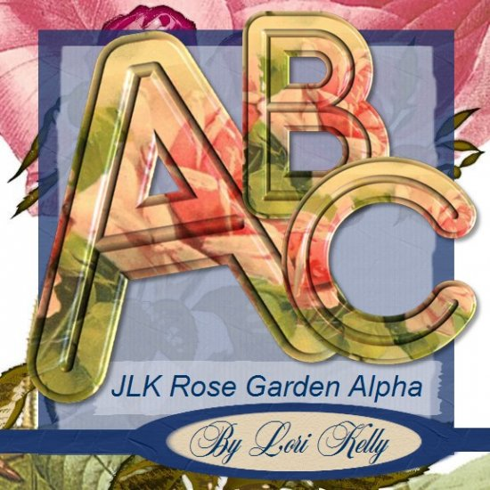 Rose Garden Alphabet - ON SALE!