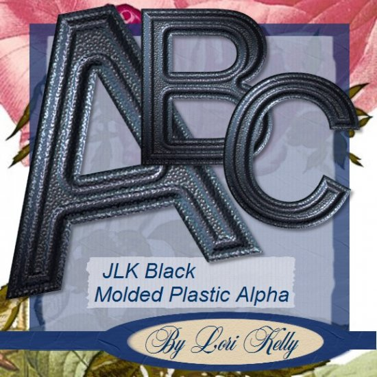Black Molded Plastic Alpha - ON SALE!