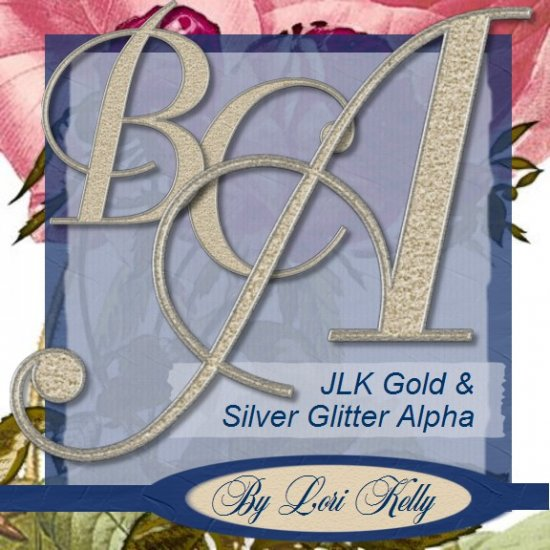 Gold and Silver Glitter Alpha - ON SALE!