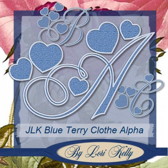Blue Terry Clothe Alpha - ON SALE!