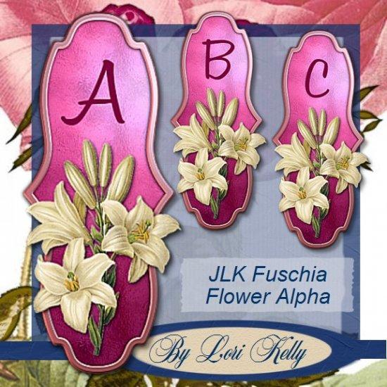 JLK Fuschia Flower Alpha - ON SALE!