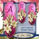 JLK Fuschia Flower Alpha - ON SALE!
