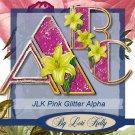 JLK Pink Glitter Alpha - ON SALE!