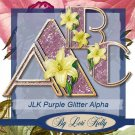 JLK Purple Glitter Alpha - ON SALE!