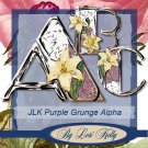 JLK Purple Grunge Alpha - ON SALE!