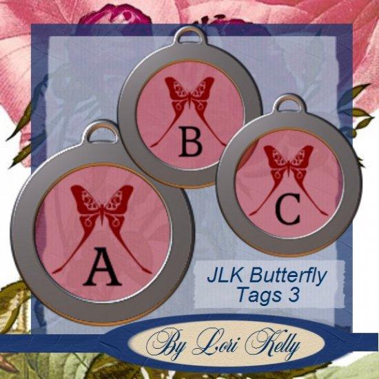JLK Butterfly Tags 3 - ON SALE!