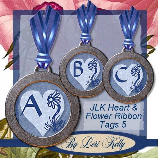 JLK Heart & Flower Ribbon Tags 5 - ON SALE!