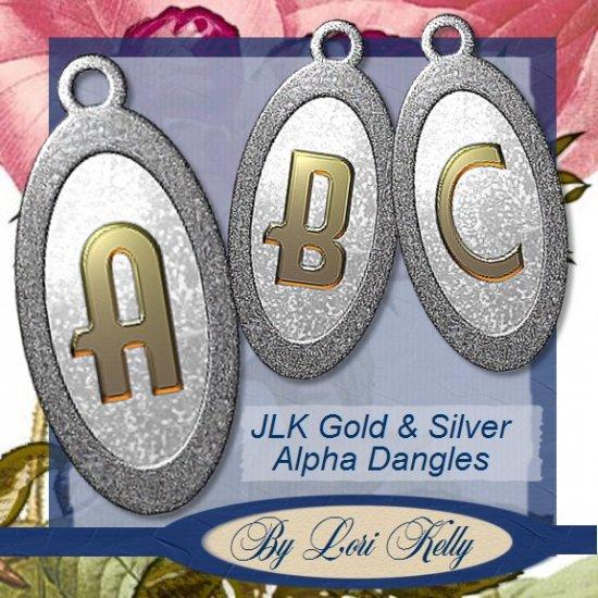 JLK Gold & Silver Alpha Dangles - ON SALE!