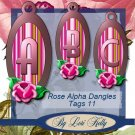 JLK Rose Alpha Dangle Tags 11 - ON SALE!