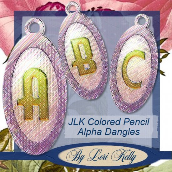 JLK Colored Pencil Alpha Dangles - ON SALE!