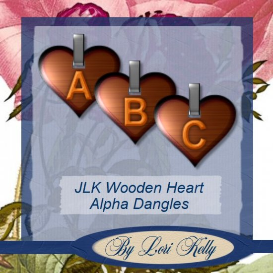 JLK Wooden Heart Alpha Dangles - ON SALE!