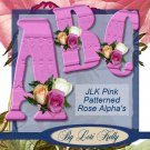 JLK Pink Patterned Rose Alpha - ON SALE!