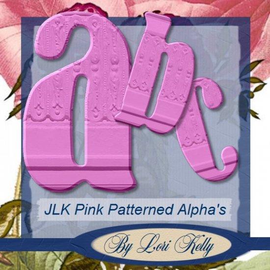 JLK Pink Patterned Alpha - Lowercase - ON SALE!