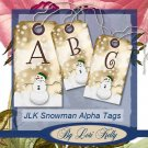 JLK Snowman Alpha Tags - ON SALE!