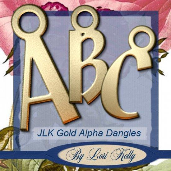 JLK Gold Alpha Dangles - ON SALE!