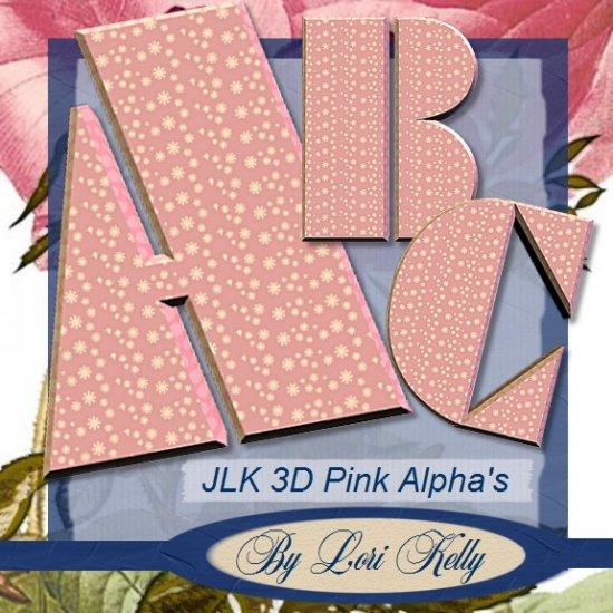 JLK 3D Pink Alpha's - ON SALE!