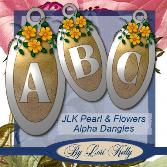 JLK Pearl & Flowers Alpha Dangles - ON SALE!