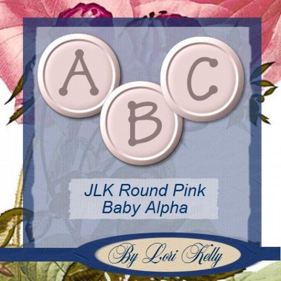 JLK Round Pink Baby Alpha - ON SALE!