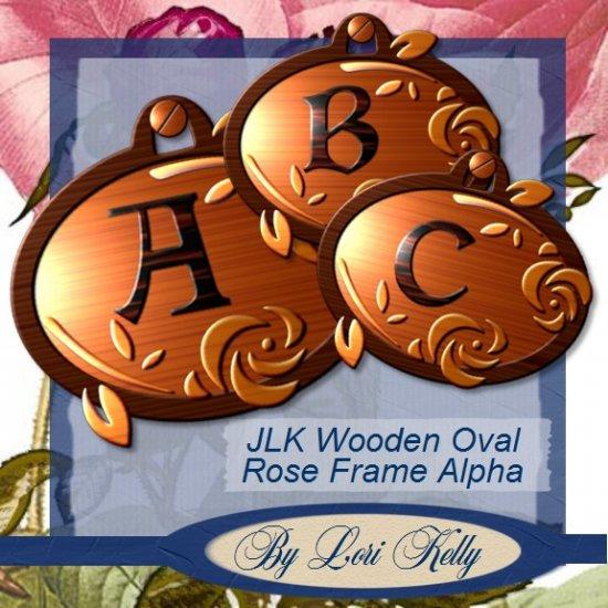 JLK Woodeen Oval Rose Frame Alpha - ON SALE!
