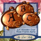 JLK Woodeen Oval Rose Frame Alpha - ON SALE!
