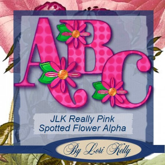 JLK Really Pink Spotted Flower Alpha