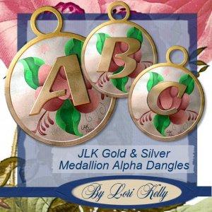 JLK Gold & Silver Medallion Alpha Dangles - ON SALE!