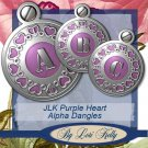 JLK Purple Heart Alpha Dangles - ON SALE!