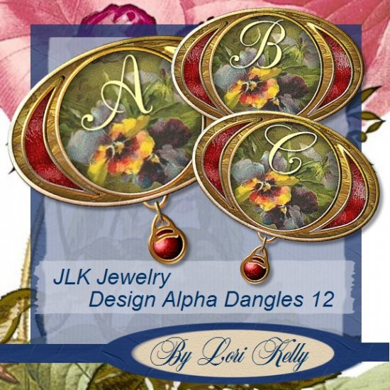 JLK Jewelry Design Alpha Dangles 12