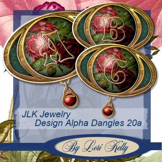 JLK Jewelry Design Alpha Dangles 20a
