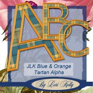 JLK Blue & Orang Tartan Alpha - ON SALE!