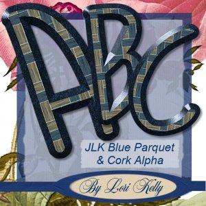 JLK Blue Parquet & Cork Alpha - ON SALE!