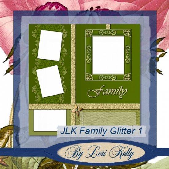 JLK Family Glitter Template