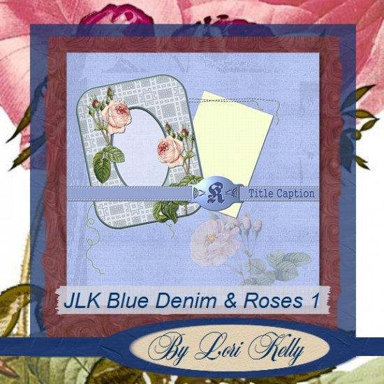JLK Blue Denim & Roses Template