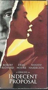 Indecent Proposal (VHS) Robert Redford, Demi Moore, Woody Harrelson